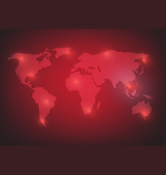 world map background on red vector image