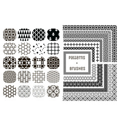 20 geometric patterns and 11 pattern vector image