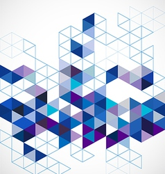 Abstract blue modern geometric template and space vector
