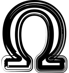 Abstract omega sign vector