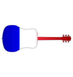 acoustic guitar silhouette with french national vector image