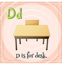 Alphabet d is for desk vector