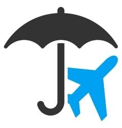 Aviation Umbrella Icon vector image