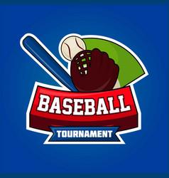 Baseball tournament symbol vector
