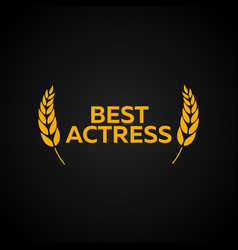 best actress laurel film awards winners film vector image