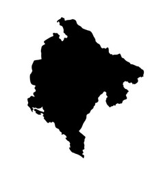 Black silhouette country borders map of vector