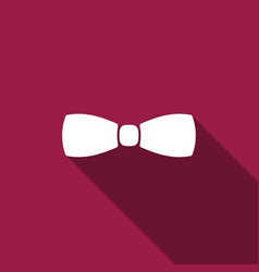 bow tie icon isolated with long shadow vector image