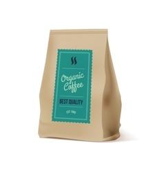 Brown Paper Food Bag Package Of Coffee vector