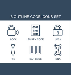 code icons vector image