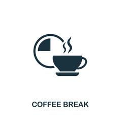 coffee break icon premium style design from vector image