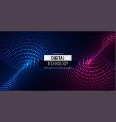 Digital particles flowing background design vector