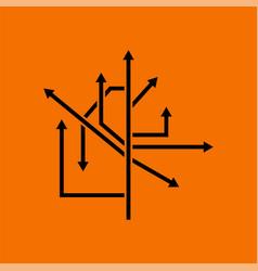 Direction arrows icon vector