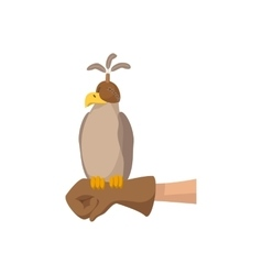 Falcon hunting cartoon icon vector