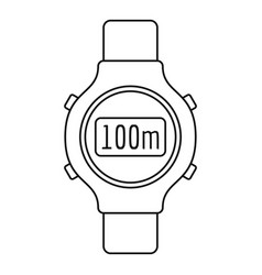 fitness tracker icon outline style vector image