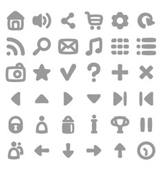 Game user interface icons kit vector