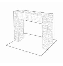 Gates racing finish icon outline style vector image