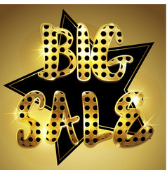 Golden big sale background vector