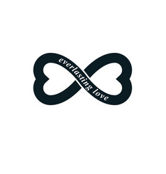 Infinite love concept symbol created vector