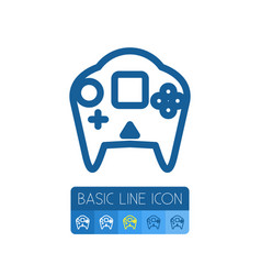 Isolated arcade outline video-game element vector