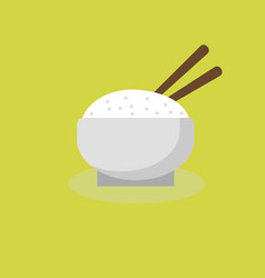 Japanese rice bowl icon vector