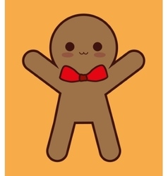 Kawaii coockie of Christmas season design vector