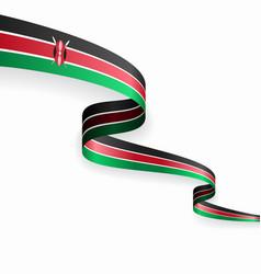 kenyan flag wavy abstract background vector image