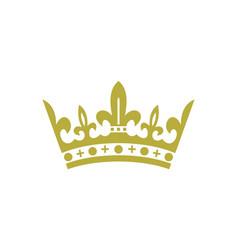 king crown logo icon vector image