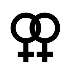 Lesbian symbol icon isolated on white vector