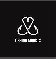 love fishing logo creative and hook logo vector image