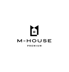 M house logo icon vector