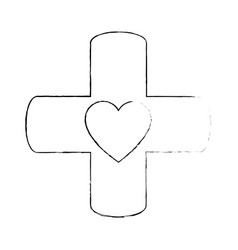 medical cross symbol vector image