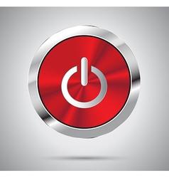 Metallic power icon vector