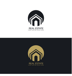 modern real estate or house logo design concept vector image