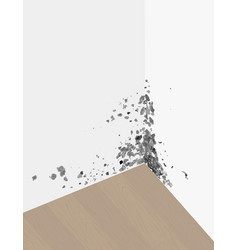mold on the walls in vector image