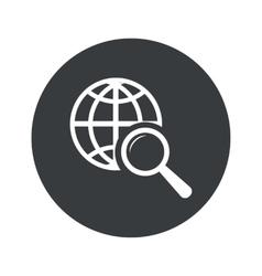 Monochrome round global search icon vector