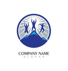 mountain logo vector image
