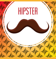 mustache style hipster poster vector image