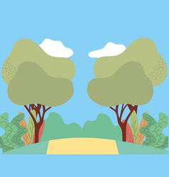 park landscape icon vector image