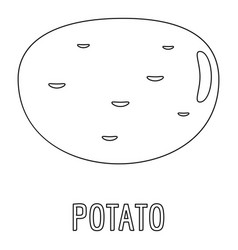 Potato icon outline style vector