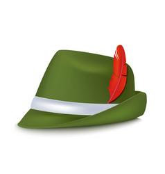 realistic 3d detailed bavarian oktoberfest hat vector image