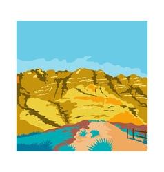 Red Rock Canyon WPA vector image