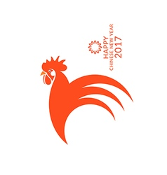 Red rooster Symbol of Chinese New Year 2017 vector image