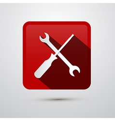 Repair Tools Icon - Screwdriver and Spanner Wrench vector