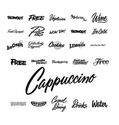 Restaurant advertising sign and lettering vector