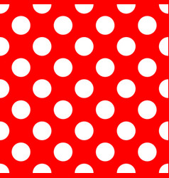 retro seamless pattern with small white polka dots vector image