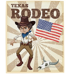 Rodeo poster vector