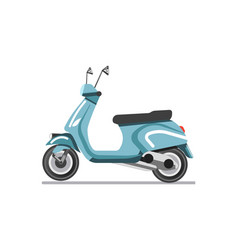 scooter light two-wheeled open motor vehicle vector image