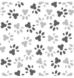seamless pattern paw foot print for wrapping vector image