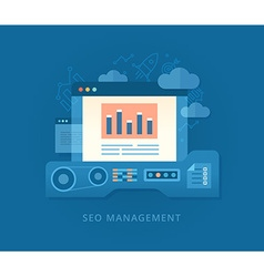 Seo Management and Developing Strategy vector
