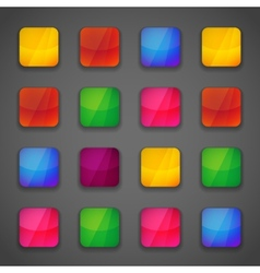Set of colorful button icons vector